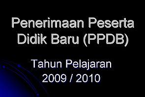 PPDB_2009