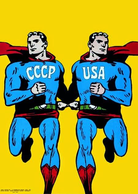poster perang dingin - superman